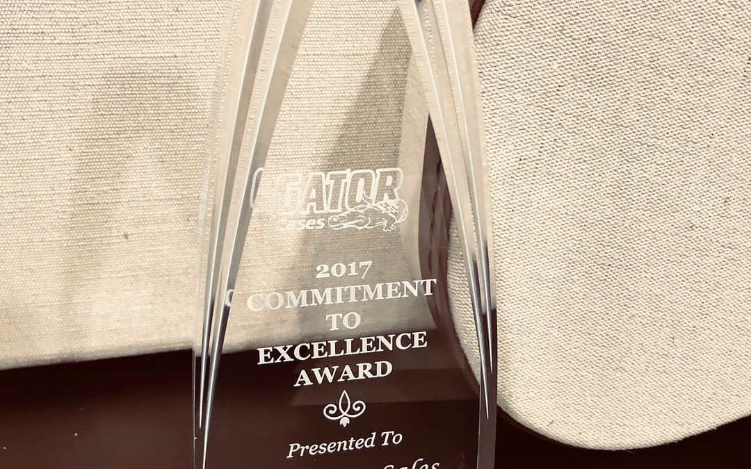 Gator Cases awards Holloway Sales their 2017 Commitment To Excellence Award